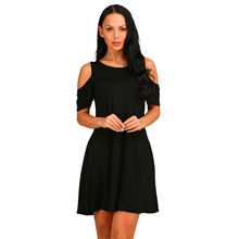 Nice Europe And America Women Sexy Dress Off Shoulder Short Sleeve Loose Pocket Dresses Summer Casual Elegant Mini Women Dresses(China)