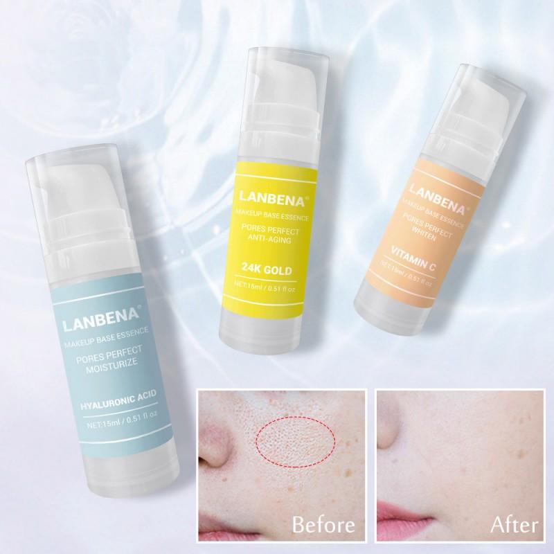 Makeup Base Serum Shrink Pores Moisturizer Oil-Control Brighten  Skin Firming Sunscreen Face Serum