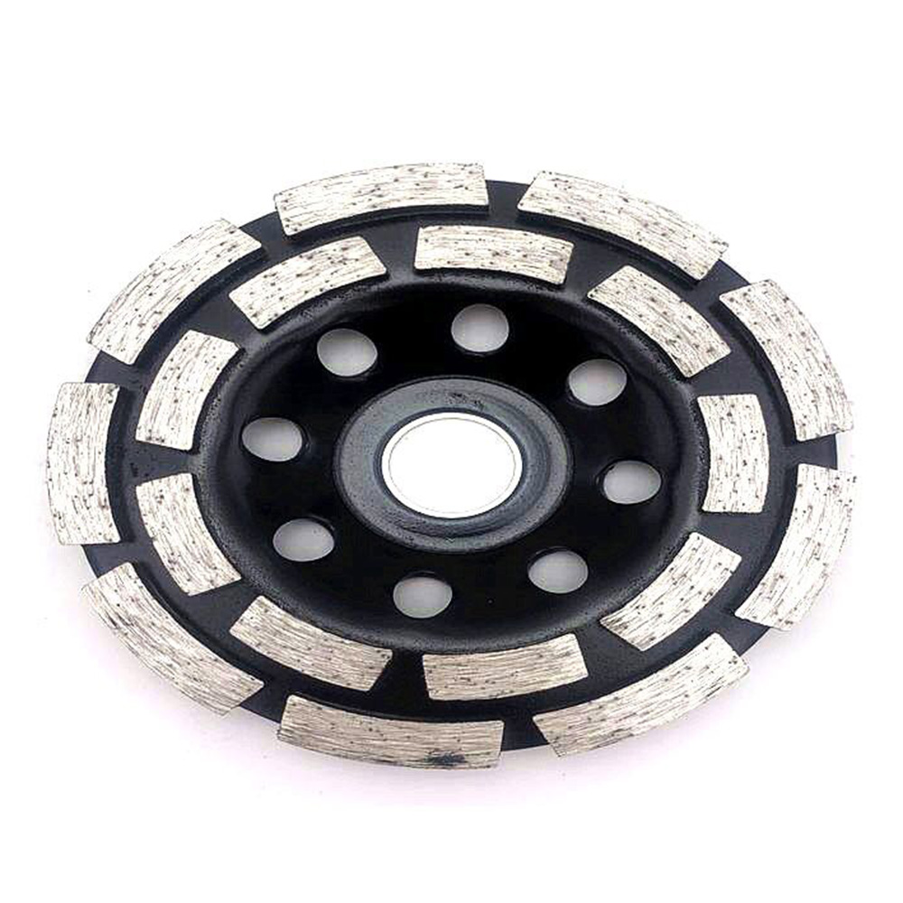 Diamond-Impregnated Wheel Thicken Marble <font><b>Beton</b></font> Polished Piece Double Row Abrasive Wheel image