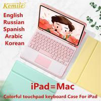 Touchpad Tastiera per il Caso di iPad Pro 11 2020 di Aria 3 10.5 Pro 10.5 7th 10.2 9.7 2018 Della Copertura W Matita supporto fonda touchpad Tastiera