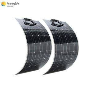 Image 2 - 중국 새로운 태양 전지 100w 패널 태양 박막 유연한 태양 전지 패널 공장 가격 200w 300w 2pcs 3pcs 100w