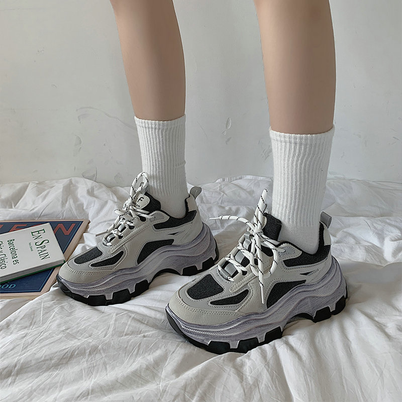 2019 Autumn New Korean Version Of The Wild Thick Bottom Increased With Shoes Harajuku Style Sports Running Shoes ZZ-20