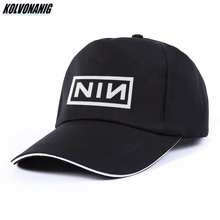 Fashion Unisex Cotton Trucker Hat Nine Inch Nails Rock Band NIN Print Baseball Cap for Men Women Hip Hop Dad Hats Bone Sun Caps