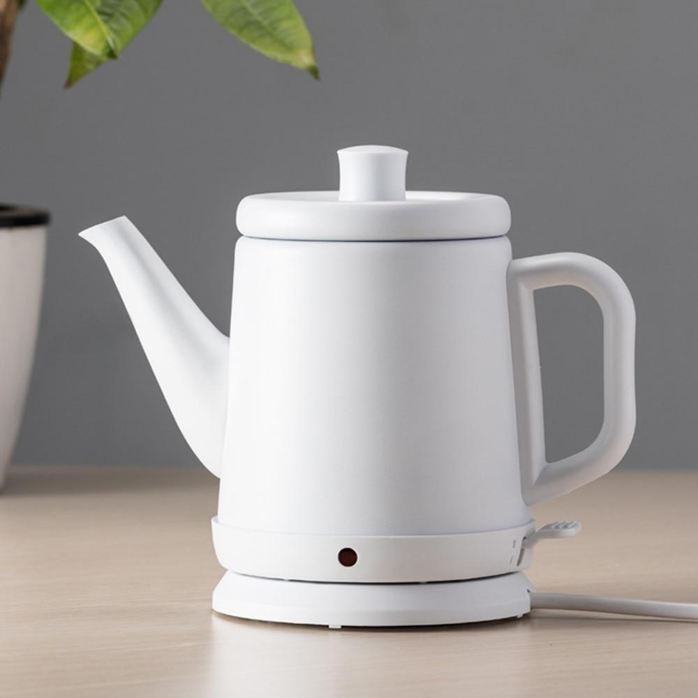 800 мл Электрический чайник из нержавеющей стали Портативный длинный рот вареная вода кофейник быстрый нагрев кипящий чайник нагреватель #3