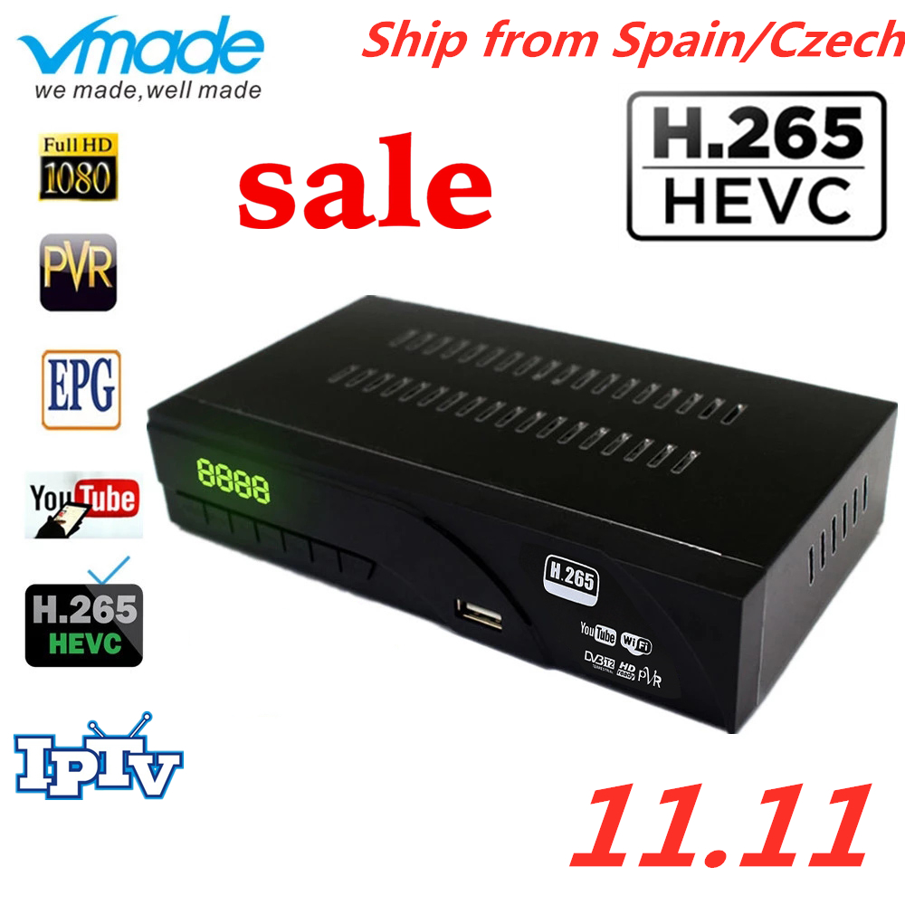 Venda quente DVB-T2 h.265 havc hd completo 1080 p receptor terrestre caixa de tv com tv scart apoio ac3, dolby, youtube conjunto de caixas superiores