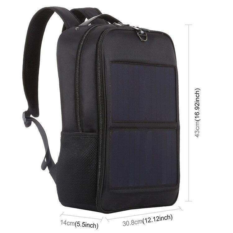 Travel Solar Backpack color: Black  https://flxicart.com