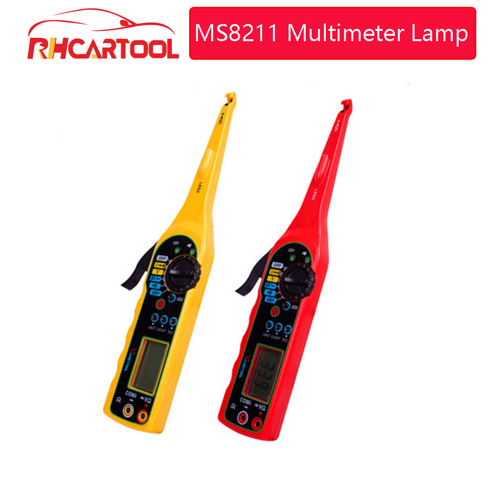 Super MS8211 Power Electric Multi-function Auto Circuit Tester Automotive Electrical Multimeter Lamp Car Repair Car Detector
