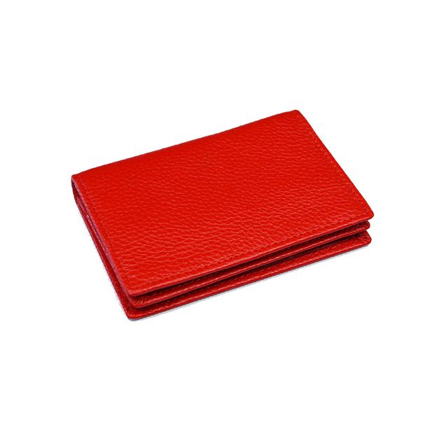 100% Genuine Leather Business Name Card Case Large Capacity Cross Crocodile Saffiano Bank Card ID Holder Custom name logo 5
