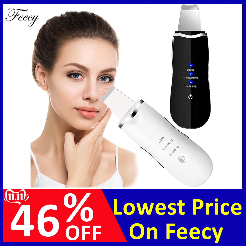 Ultrasonic Deep Face Cleaning Machine Skin Scrubber Peeling Blackhead Remover Pore Cleaner Exfoliator Facial Care Lifting Tools