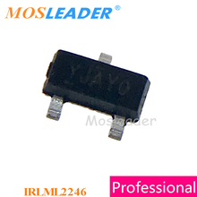 Mosleader 1000 PCS IRLML2246 SOT23 IRLML2246TRPBF IRLML2246PBF IRLML2246TR P   Channel 20 V Made in China คุณภาพสูง