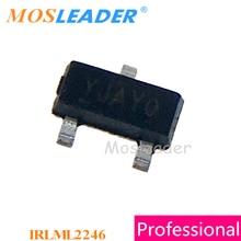 Mosleader 1000 sztuk IRLML2246 SOT23 IRLML2246TRPBF IRLML2246PBF IRLML2246TR kanału P 20 V wykonane w chinach wysokiej jakości