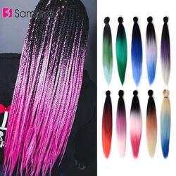 Samtresse cheveux synthétiques Ombre couleur EZ Jumbo tresses Extension de cheveux pour tresses cheveux tressage cheveux