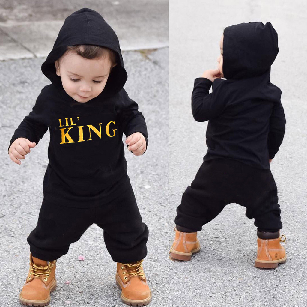 UK Newborn Baby Boys Camouflage Hoodies Trousers Kids Casual Tracksuit Outfits