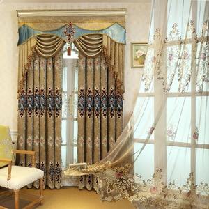 Image 1 - Европейский стиль, высококлассная вышитая шенилла, ретро палатка, крученая золотая вышивка для гостиной, балдахинов, дополнительная покупка