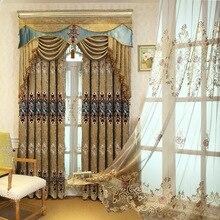 ヨーロッパスタイルの高級シェニール刺繍 Pelmet レトロ裁判所紡績ゴールド刺繍リビングルーム、バランス、追加購入