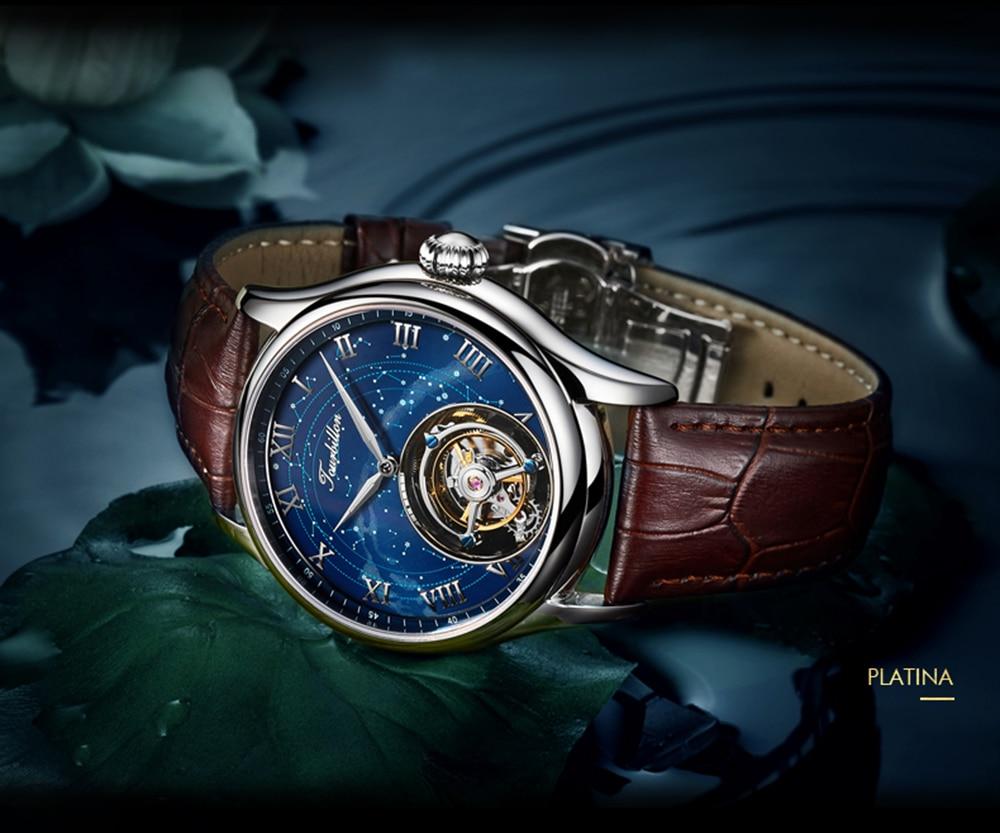 100% Tourbillon GUANQIN Men watches top brand luxury Tourbillon clock men Sapphire Skeleton mechanical watch Relogio Masculino 20