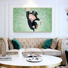 Счастливый миллионер Монополия Холст Картина мотивационные плакаты