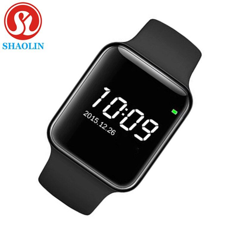 Montre intelligente série 4 pour Apple bracelet intelligent Fitness Tracker passomètre capteur de fréquence cardiaque Sport montres intelligentes (bouton rouge)