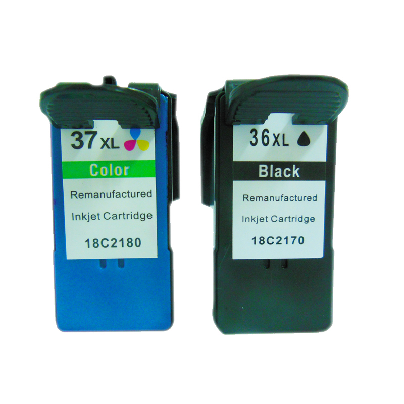 vilaxh 2pcs 36xl 37xl for Lexmark 36 37 Ink Cartridges X3650 X4650 X5650 X5650es X6650 X6675 Z2420 printer