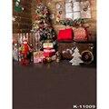 Фон для детской фотосъемки с изображением рождественской елки подарка деревянного дома