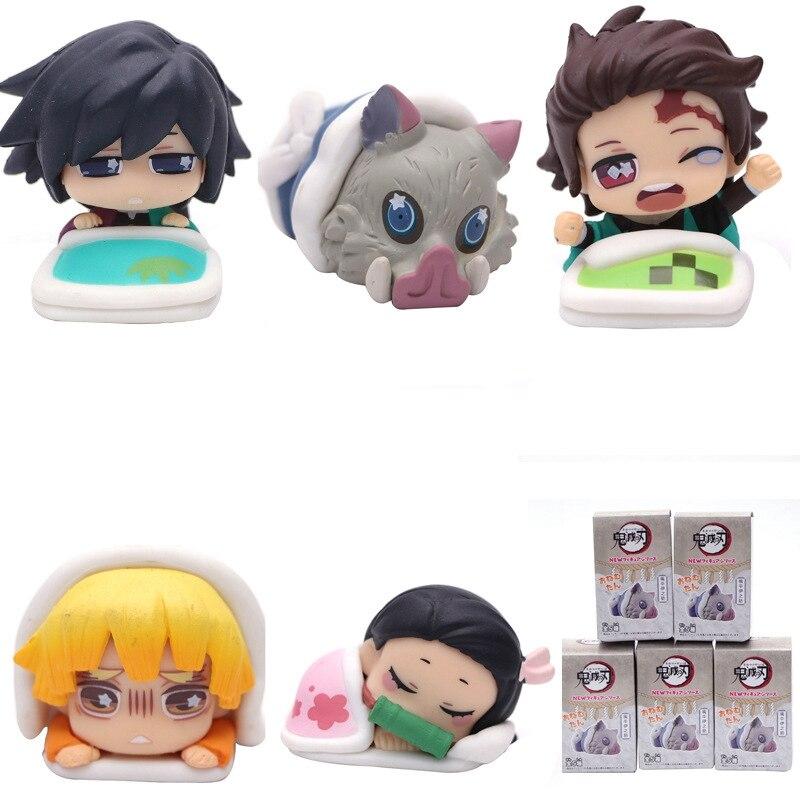 Demon Slayer Kimetsu No Yaiba ONEMUTAN Sleeping 5 types Set Capsule toy Figurine