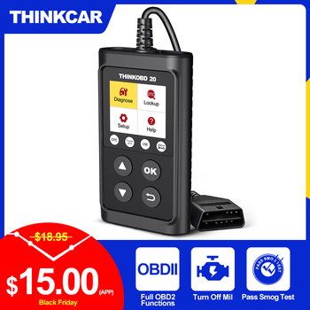 THINKCAR ThinkOBD 20 Car Diagnostic Tool OBD2 Automotive Scanner Engine Light Check DTC Lookup Obdii Code Reader PK ELM327 v1.5 launch x431 cr3008 obd2 automotive scanner obdii code reader diagnostic tool check engine battery voltage free update pk kw850