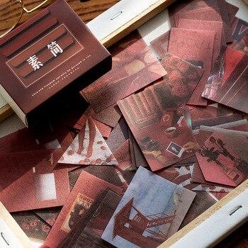 100 PCS/1 Lot Retro เครื่องเขียนสติกเกอร์เกลือ WIND Travel Diary Planner โทรศัพท์มือถือตกแต่งสติกเกอร์ Scrapbooking DIY CRAFT สติกเกอ...