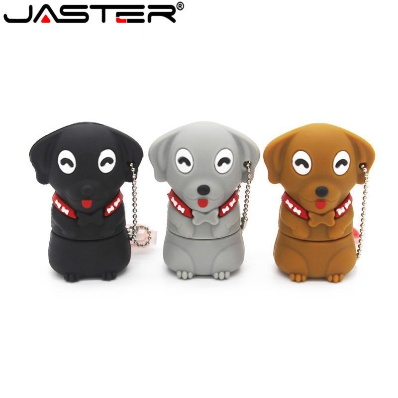 JASTER 64GB Cartoon Mini Dog Usb Flash Drive Usb 2.0 4GB 8GB 16GB 32GB Pendrive Gift U Disk
