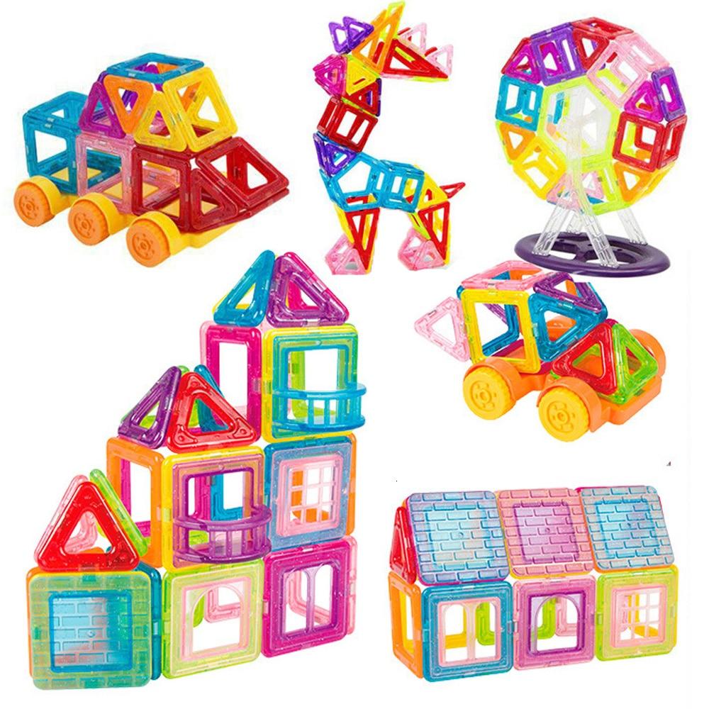 42-184pcs Mini Magnetic Blocks Magnet Constructor Designer Models   Building Toys Magnetic Toys For Children Gifts