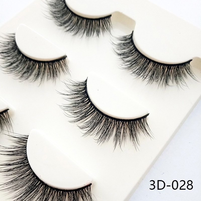 2019 3 Pairs 3D Mink Hair False Eyelashes 13mm Lashes Thick Long Wispy Fluffy Handmade Cruelty-free Mink Eyelash Makeup Tools