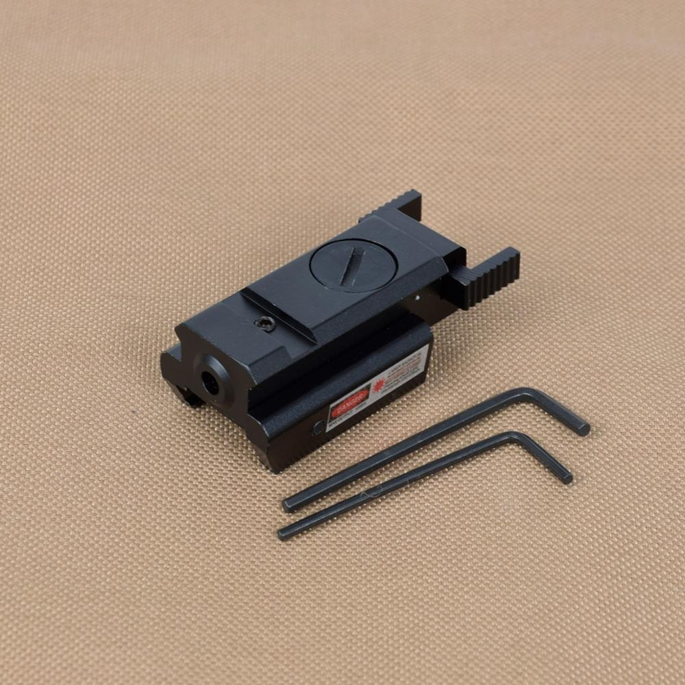 Tactical Powerful Mini Red Dot Laser Sight For Airsoft Pistol Gun With 20mm Weaver Picatinny Rail For Air Gun Glock 17 19 22 23-2