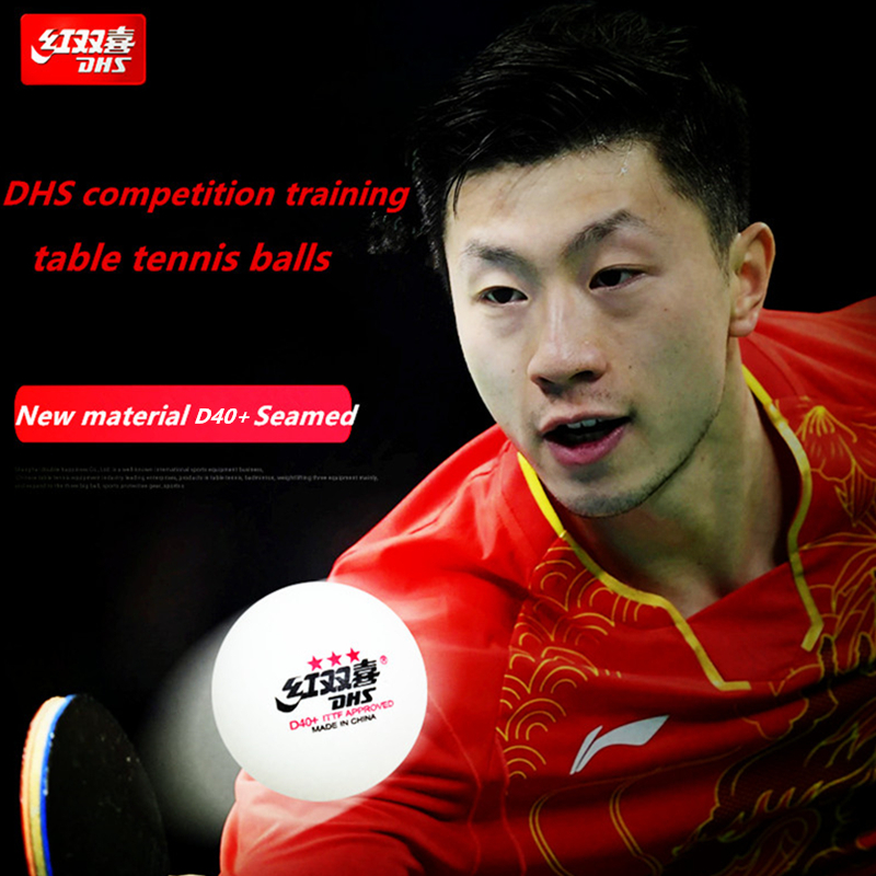 100 Balls DHS 3-star D40+ Table Tennis Ball Original 3 Star Seamed New Material ABS Plastic Ping Pong Balls Poly