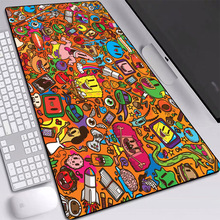 2020 New Great Mouse Pad L,XL,XXL Natural Rubber Caricature Classic Gaming Square Desk Mat Edge Control