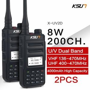 Image 1 - KSUN  Walkie Talkie Dual Band Handheld Two Way Ham Radio Communicator HF Transceiver Amateur Handy Walkie talkie