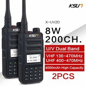 Image 1 - KSUN Walkie Talkie de banda Dual, Radio de mano, comunicador bidireccional HF, transceptor, walkie talkie aficionado