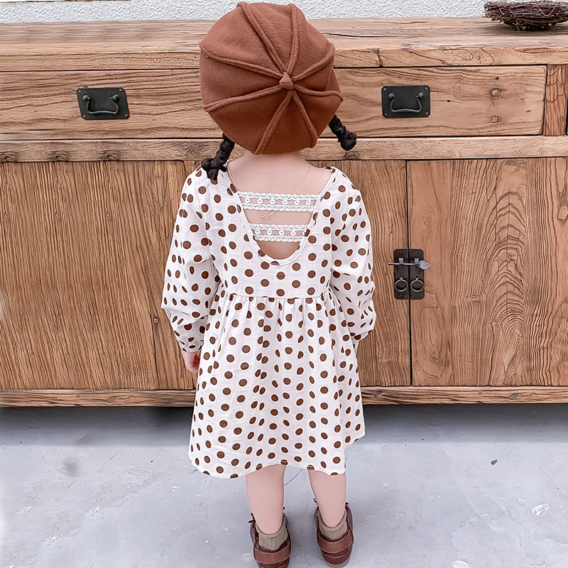 Humor Bear Fashion Kids Clothes Girl Plaid Doll Collar Long Sleeve Dress Children Princess Dresses Baby Girls Clothing Outfits 6