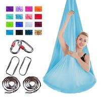 FDBRO Yoga Hammock Swing Yoga Hanging Belt Home Gym Fitness Body Building Equipment Full Set High Strength Nylon Anti Gravity
