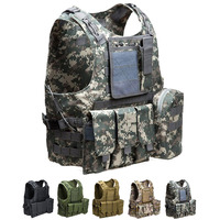 Airsoft Accessories Tactical Vest Molle Body Armor Military Combat Assault Plate Carrier Vest Outdoor Camouflage Hunting Vest