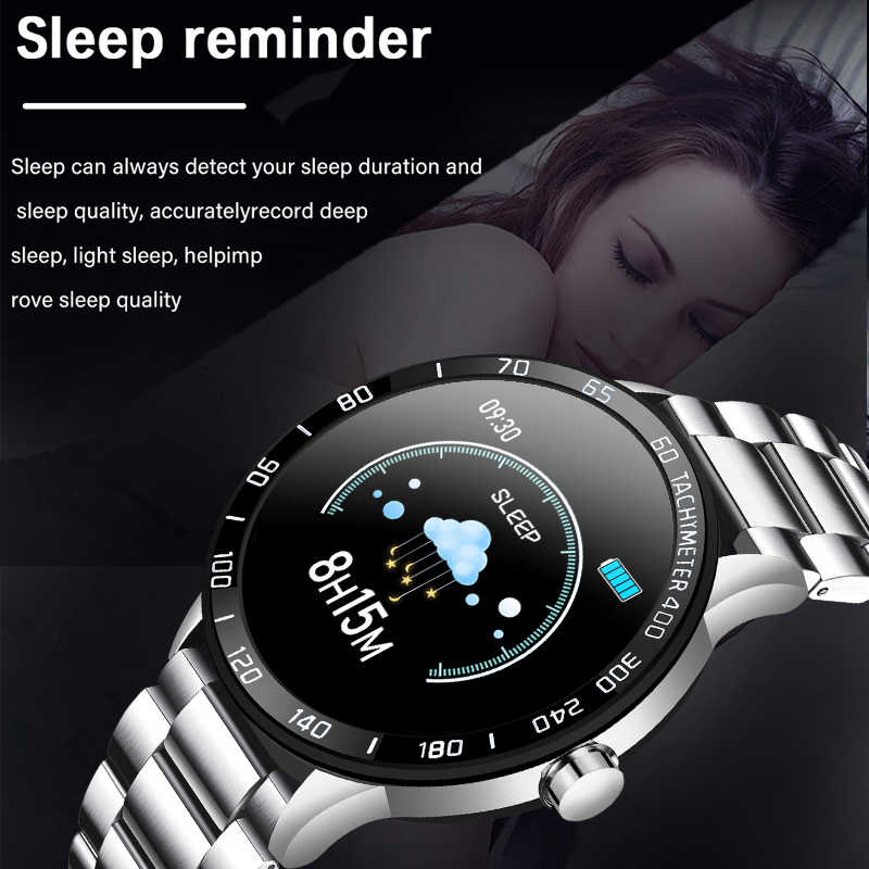 חכם שעון גברים IP67 עמיד למים גשש כושר קצב לב צג לחץ דם מד צעדים עבור אנדרואיד ios ספורט smartwatch