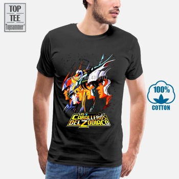 Saint Seiya Knights Of The Zodiac T-Shirts For Men T-Shirt 3D Geek Hip Hop Rock Funny T Shirts Shirt