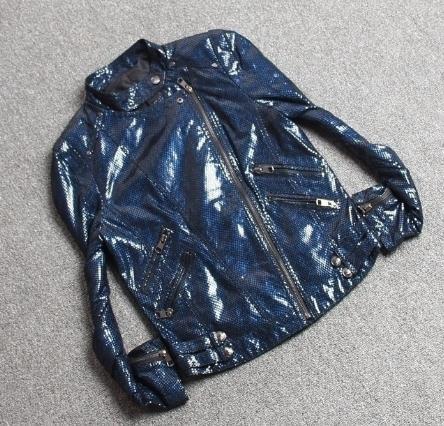 Free Shipping,2020 Brand New Women Genuine Leather Jacket.fashion Female Embossing Skin Motor Jacket,short Slim Coat,sales