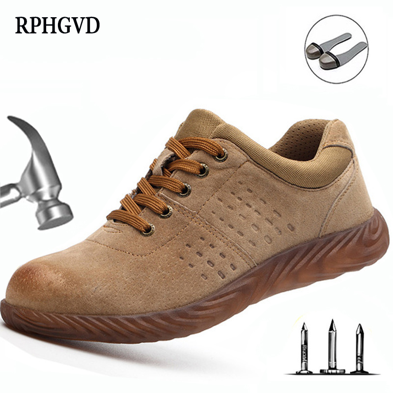 Labor Insurance Shoes Men Steel Head Anti-smash Stab-resistant Anti-slip Electric Welder Beef Tendon Jelly Bottom Work Shoes