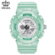 SMAEL marka moda kadın dijital saat spor su geçirmez çok fonksiyonlu kol saati bayanlar saatler kadın saat relogio feminino