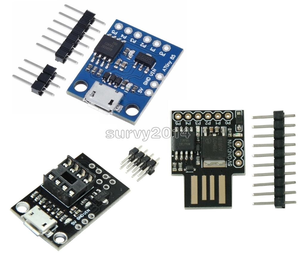 Blue Black TINY85 Digispark Kickstarter Micro Development Board ATTINY85 Module For Arduino IIC I2C USB