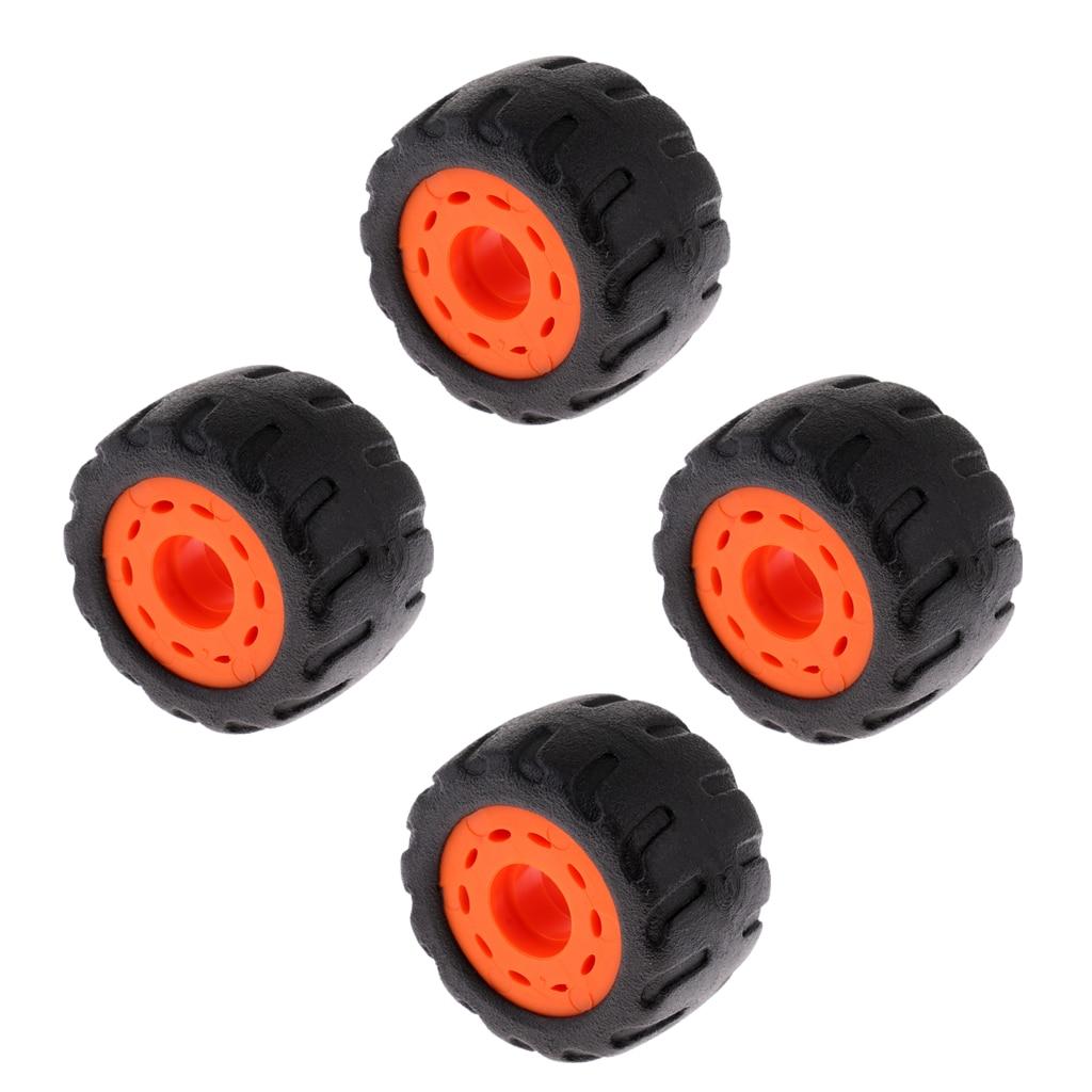 Durable Wearproof Longboard Mountainboard Rubber Wheel 70mm 75A, Set Of 4