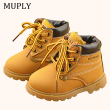 2020 Winter Children's boots Girls Boys Plush Martin Boots Casual Warm Ankle Shoes Kids Fashion Sneakers Baby Snow Boots