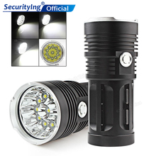 SecurityIng 11 x XML-T6 LED 2600LM Powerful LED Flashlight Rechargeable Torch Waterproof Super Bright Fishing Flash Light Torch led flashlight 13x xml t6 led waterproof super bright backpacking hunting fishing torch flash lamp