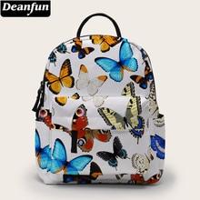 Deanfun Mini Rucksack Schmetterling Gedruckt Schule Taschen Rucksack Geldbörse Für Frauen Als Geschenk DMNSB-24