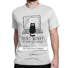 Eu sou do suporte técnico tshirts programador computador desenvolvedor geek nerd lazer camiseta gola redonda camisetas topos