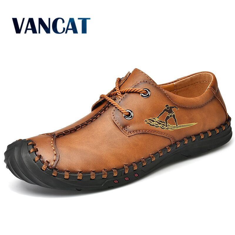 Men's Leather Casual Shoes Moccasins Men Loafers Luxury Brand Fashion Sneakers Men's Shoes Breathable Driving Shoes Size 38-48